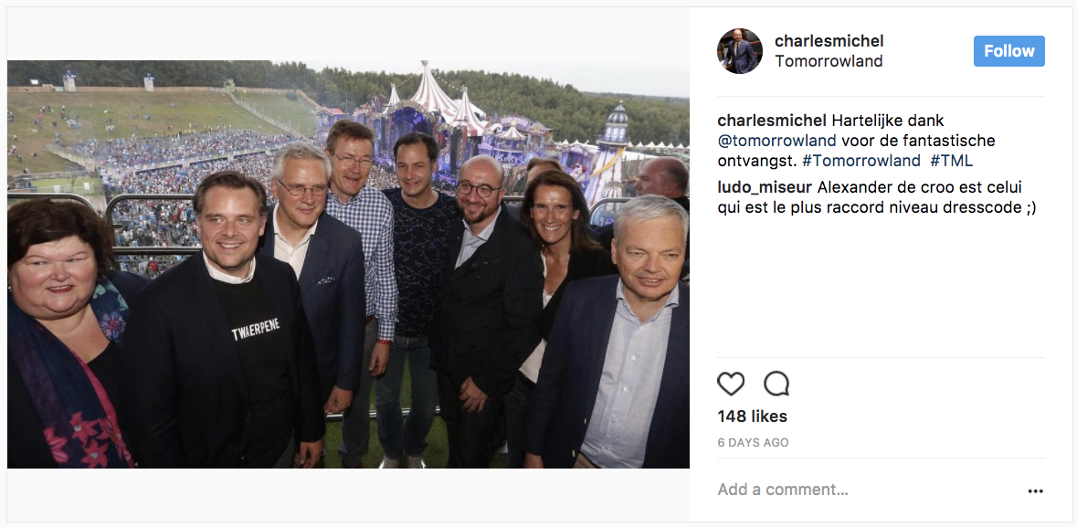 Charles Michel: Play Hard Post #Tomorrowland #meandmycrew