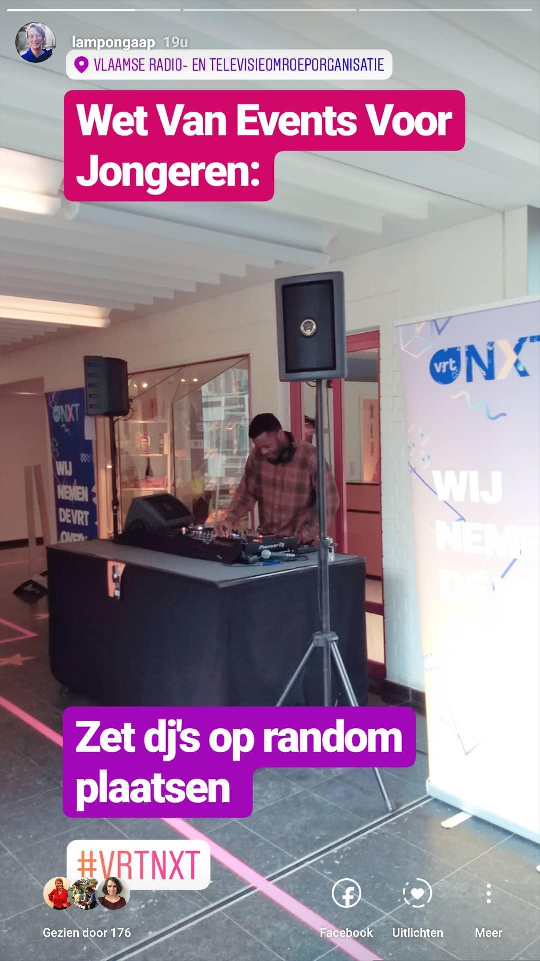 VRT NXT Random DJ's plaatsen voor jongeren