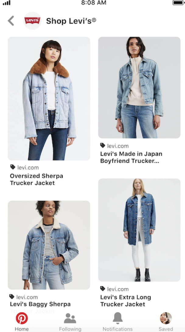 Levi's Product catalogus Pinterest